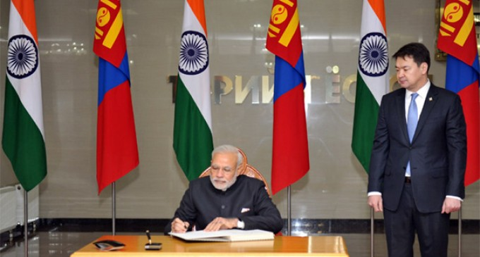 Mongolia new bright light of world's democracies : PM Modi