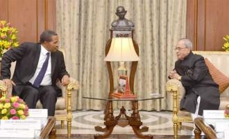 The President of the United Republic of Tanzania, Jakaya Kikwete calling on the President, Pranab Mukherjee,