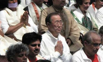 Yoga Day launched at UN; Ban says way to life of dignity
