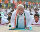 The Prime Minister, Narendra Modi participates in the mass yoga demonstration at Rajpath on the occasion of International Yoga Day