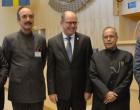 President Pranab Mukherjee meets Uban Ahlin, Speaker of the Riksdag & Members of Riksdag at Riksdagen during his state visit of Sweden in Stockholm