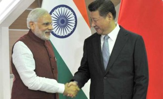 The Prime Minister, Narendra Modi meeting the President of the People's Republic of China, Xi Jinping, in Ufa