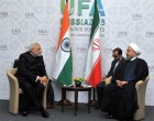 The Prime Minister, Narendra Modi in bilateral meeting with the President of the Islamic Republic of Iran, Hasan Rouhani