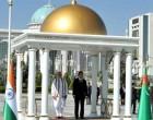 The Prime Minister, Narendra Modi with the President of Turkmenistan, Gurbanguly Berdimuhamedov