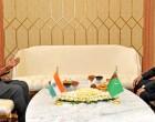 The Prime Minister, Narendra Modi meeting the Deputy Prime Minister and Minister of Foreign Affairs of Turkmenistan, Rasit Meredow