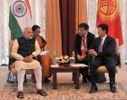 The Prime Minister, Narendra Modi meeting the Prime Minister of Kyrgyz Republic, Temir Sariyev,