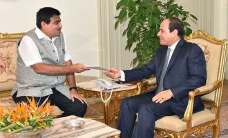 Nitin Gadkari calls on the Egyptian Transport Minister Eng. Hany Dahy