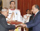Ambassador-designate of Bolivarian Republic of Venezuela, Mr. Augusto presenting his credential to the President, Pranab Mukherjee