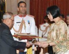 Ambassador-designate of Republic of Philippines, MA Teresita C. Daza presenting her credential to the President, Pranab Mukherjee