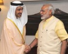 The Foreign Minister of UAE, Sheikh Abdullah Bin Zayed Al Nahyan calling on the Prime Minister, Narendra Modi, in New Delhi.