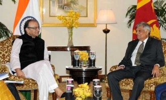 Minister for Finance, Corporate Affairs and I&B, Arun Jaitley calling on the Prime Minister of the Democratic Socialist Republic of Sri Lanka, Ranil Wickremesinghe