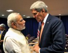 Prime Minister, Narendra Modi meeting the United States Secretary of State, John Kerry