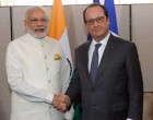 Prime Minister, Narendra Modi meeting the President of France, Francois Hollande, in New York.