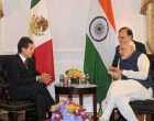 Prime Minister, Narendra Modi meeting the President of Mexico, Enrique Pena Nieto