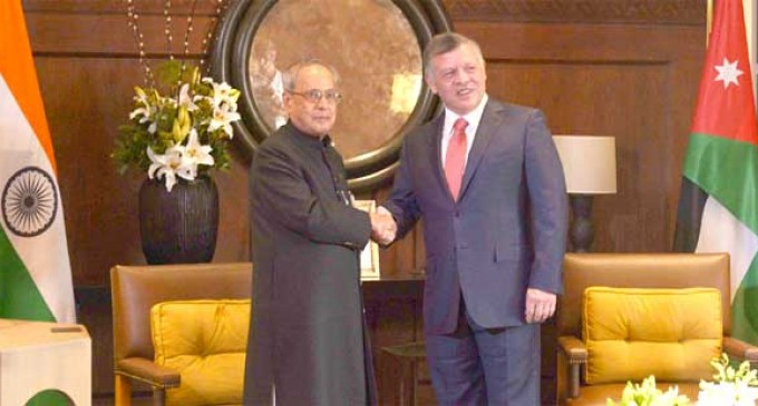 President Mukherjee in landmark visit to Jordan