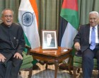 President, Pranab Mukherjee and the Prime Minister of Jordan, Dr. Abdullah Ensour in a restricted meeting, in Amman, Jordan.