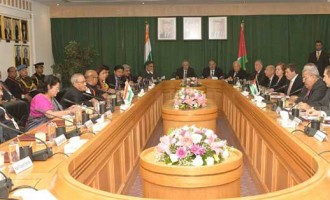 President, Pranab Mukherjee meeting with the President of Senate, Dr. Abdur-Raúf Rawabdeh