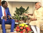Prime Minister, Narendra Modi meeting the President of the Republic of Benin, Dr. Boni Yayi