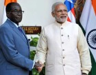 Prime Minister, Narendra Modi meeting the President of the Republic of Zimbabwe, Robert Gabriel Mugabe