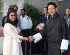 Foreign Minister Damcho Dorji of Bhutan arrives in New Delhi