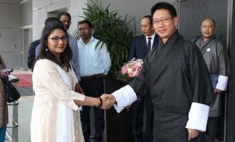 Foreign Minister Damcho Dorji of Bhutan arrives in New Delhi