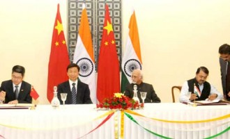 Vice President, Mohd. Hamid Ansari and the Vice President of the People's Republic of China, Li Yuanchao