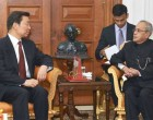Vice President of the People's Republic of China, Li Yuanchao calling on the President, Pranab Mukherjee,