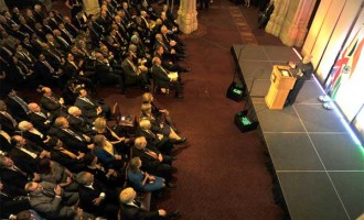 Prime Minister, Narendra Modi addressing the City of London at Indo-UK Business Meeting in The Old Library
