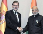Prime Minister, Narendra Modi with the Prime Minister of Spain, Mariano Rajoy in a bilateral meeting,