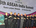 Prime Minister, Narendra Modi with other leaders in the family photo during the 13th ASEAN-India Summit, in Kuala Lumpur, Malaysia.