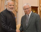 Prime Minister, Narendra Modi meeting the President of Singapore, Tony Tan Keng Yam, in Istana, Singapore.