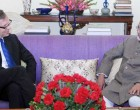 Ambassador of Norway to India, Nils Ragnar Kamsvag calling on the Vice President, Mohd. Hamid Ansari, in New Delhi