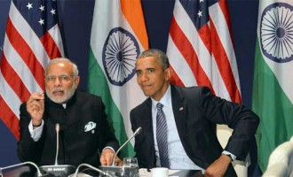 Prime Minister, Narendra Modi meeting the President of United States of America (USA), Barack Obama, on the sidelines of COP21 Summit, in Paris, France.