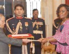 Ambassador-designate of the Democratic Republic of Congo, Mossi Nyamale Rosette presenting her Credential to the President, Pranab Mukherjee