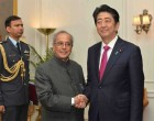 Shinzo Abe, Prime Minister of Japan called on the President of India, Pranab Mukherjee