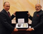 Putin gifts Modi Gandhi's notes, Indian sword