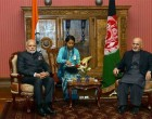 Prime Minister, Narendra Modi in tete a tete with the President of Afghanistan, Dr. Ashraf Ghani