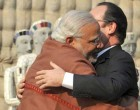 Modi welcomes Hollande at Chandigarh's Rock Garden