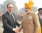 Prime Minister, Narendra Modi and the Chief Guest of Republic Day, President of France, Francois Hollande