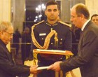 Ambassador-designate of Hungary, Gyula Petho presenting his credentials to the President, Pranab Mukherjee, at Rashtrapati Bhavan, in New Delhi.