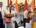 Prime Minister, Narendra Modi and the Crown Prince of Abu Dhabi, His Highness Sheikh Mohammed Bin Zayed Al Nahyan