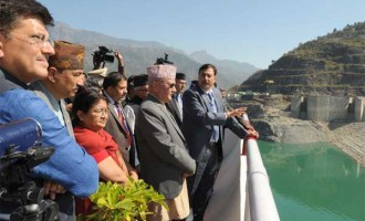 Prime Minister of Nepal, K.P. Sharma Oli visiting the Tehri Hydro Power Complex, at Tehri, Uttarakhand