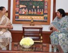 Speaker of Bangladesh Shirin Sharmin Chaudhury calls on Lok Sabha Speaker Sumitra Mahajan