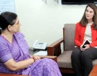 The Co-Founder of Bill & Melinda Gates Foundation, Melinda Gates meeting the Union Minister for Women and Child Development, Maneka Sanjay Gandhi, in New Delhi