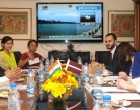 Minister of Culture, Latvia, Dace Melbarde meeting the MoS for Culture (IC), Tourism (IC) and Civil Aviation,
