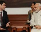 Ashwin Adhin, Vice President of Suriname calls on Prime Minister in New Delhi.