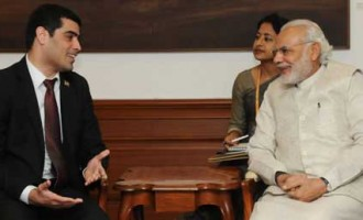 Ashwin Adhin, Vice President of Suriname calls on Prime Minister in New Delhi.