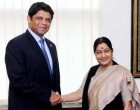 External Affairs Minister meets Aiyaz Sayed Khaiyum, Attorney-General and Minister of Finance of Fiji.