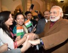The Prime Minister, Narendra Modi being warmly welcomed by the people of Indian Community, on his arrival at Brussels, Belgium.