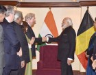 Modi meets members of EU, Belgian parliaments
